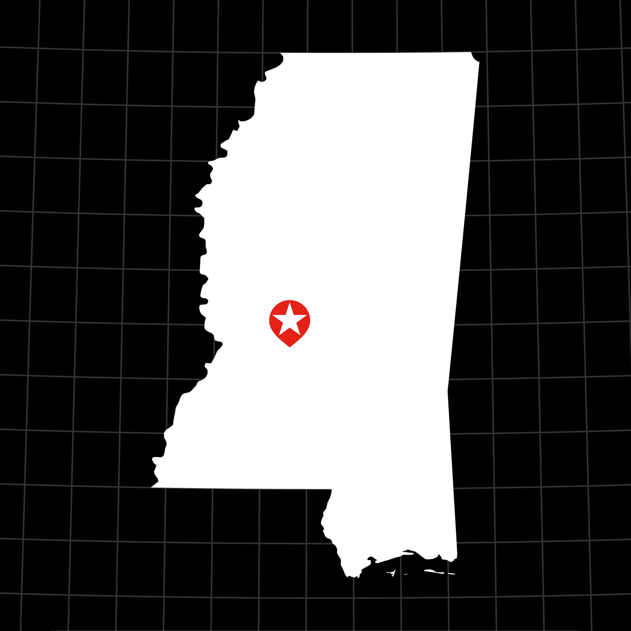 Digital Vector Map of Mississippi