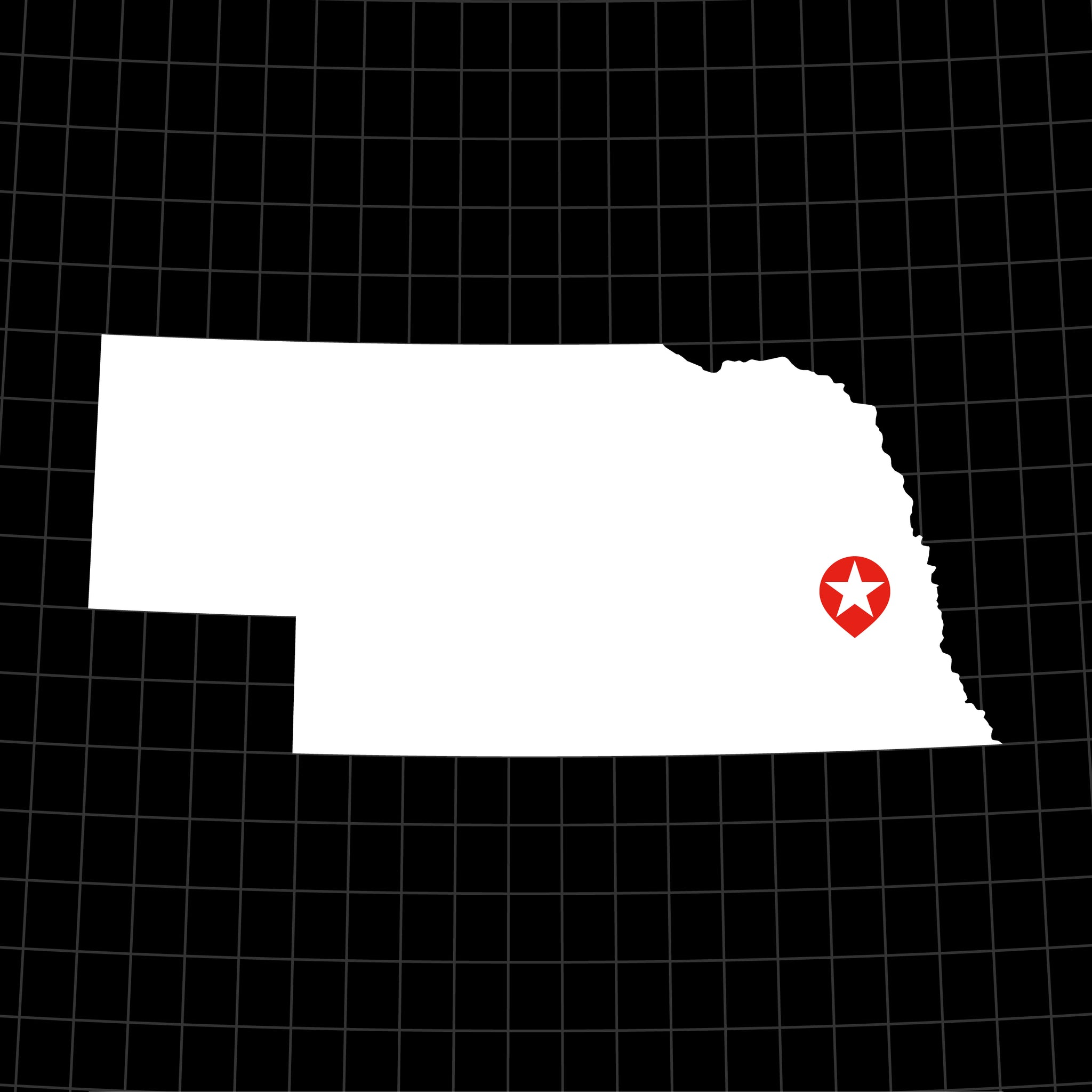 Digital Vector Map of Nebraska