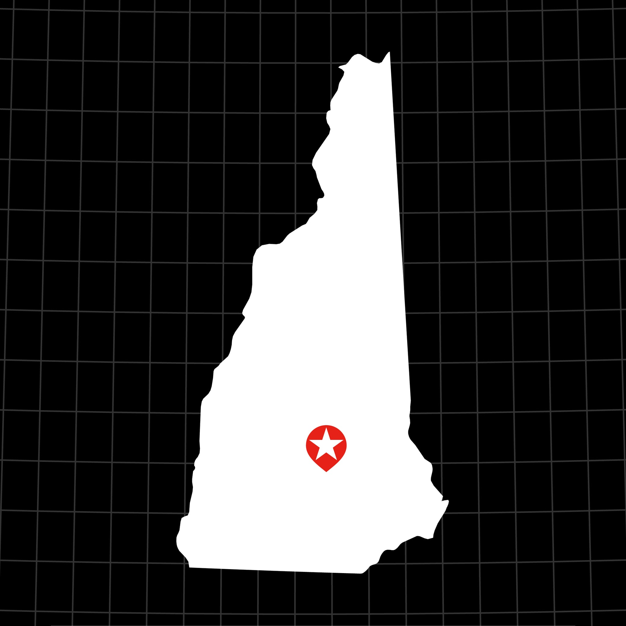 Digital Vector Map of New Hampshire