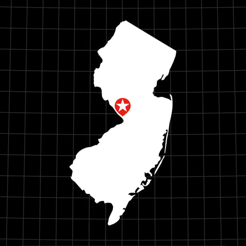 Digital Vector Map of New Jersey