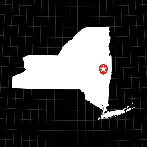 Digital Vector Map of New York