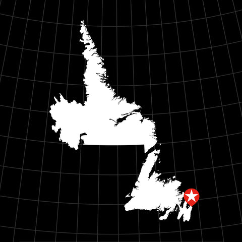 Digital Vector Map of Newfoundland & Labrador, Canada
