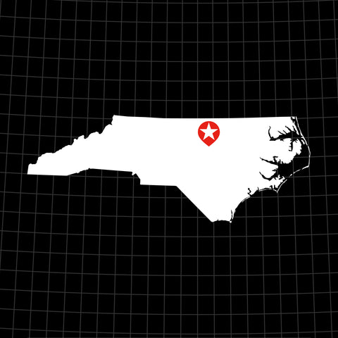 Digital Vector Map of North Carolina