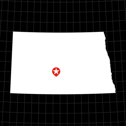 Digital Vector Map of North Dakota