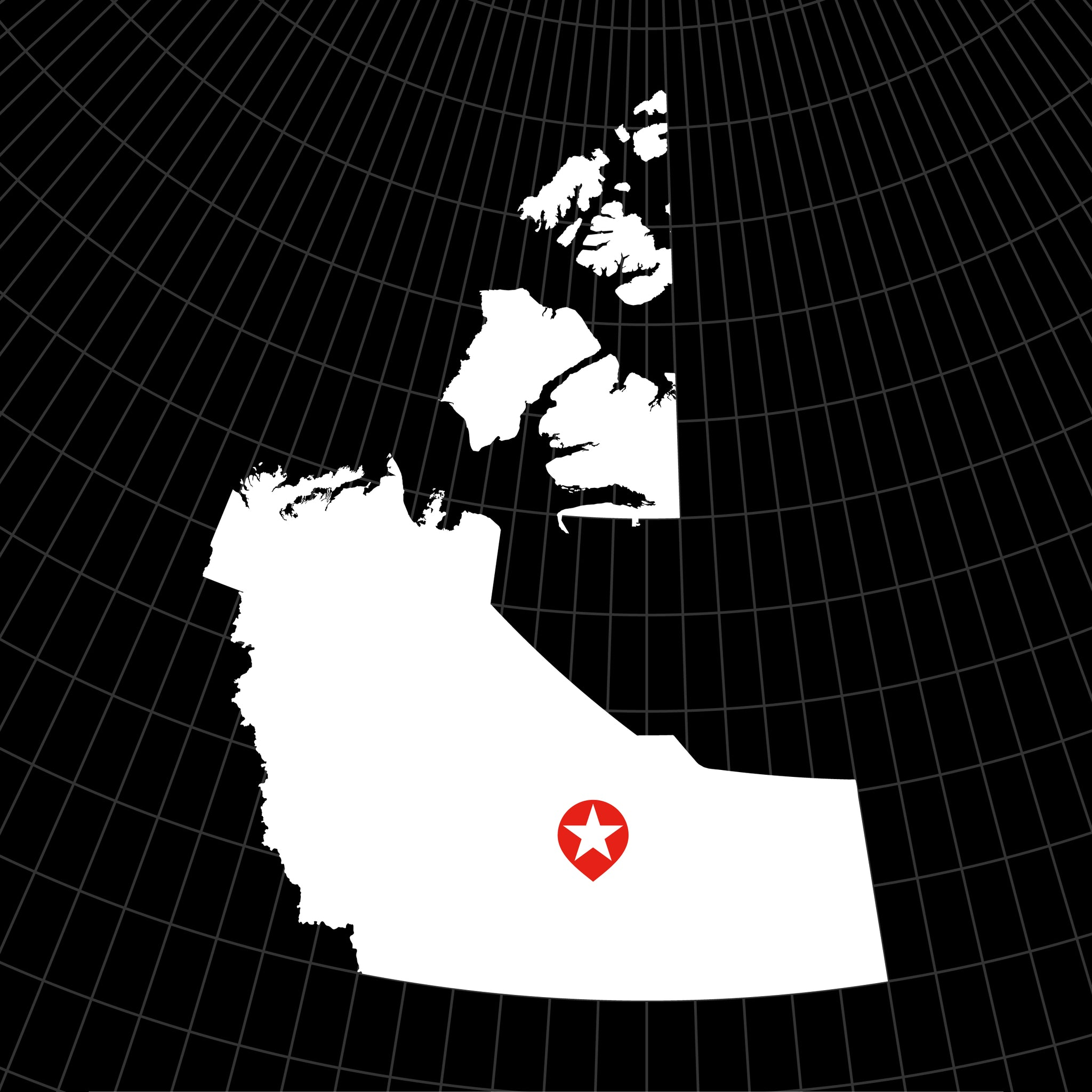 Digital Vector Map of Northwest Territories, Canada