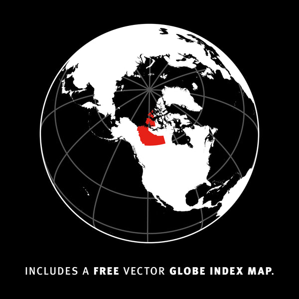Includes a Free Vector Globe Index Map.