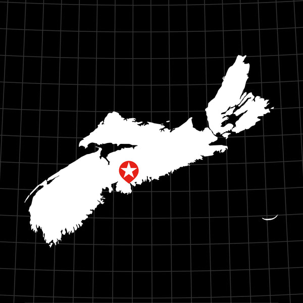 Digital Vector Map of Nova Scotia, Canada