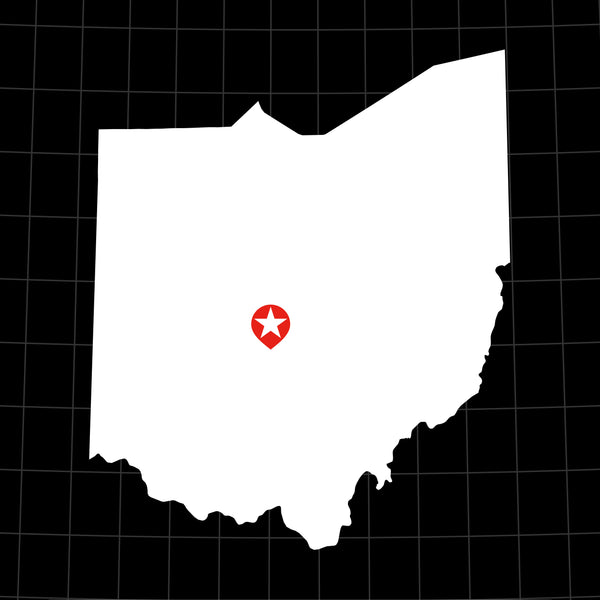 Digital Vector Map of Ohio