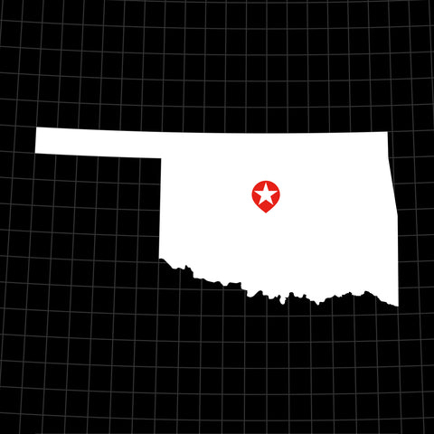 Digital Vector Map of Oklahoma