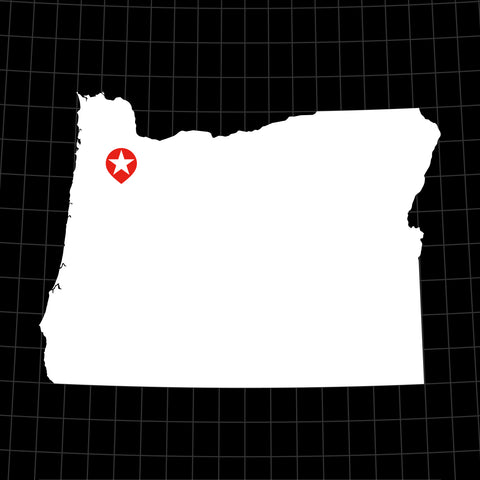Digital Vector Map of Oregon