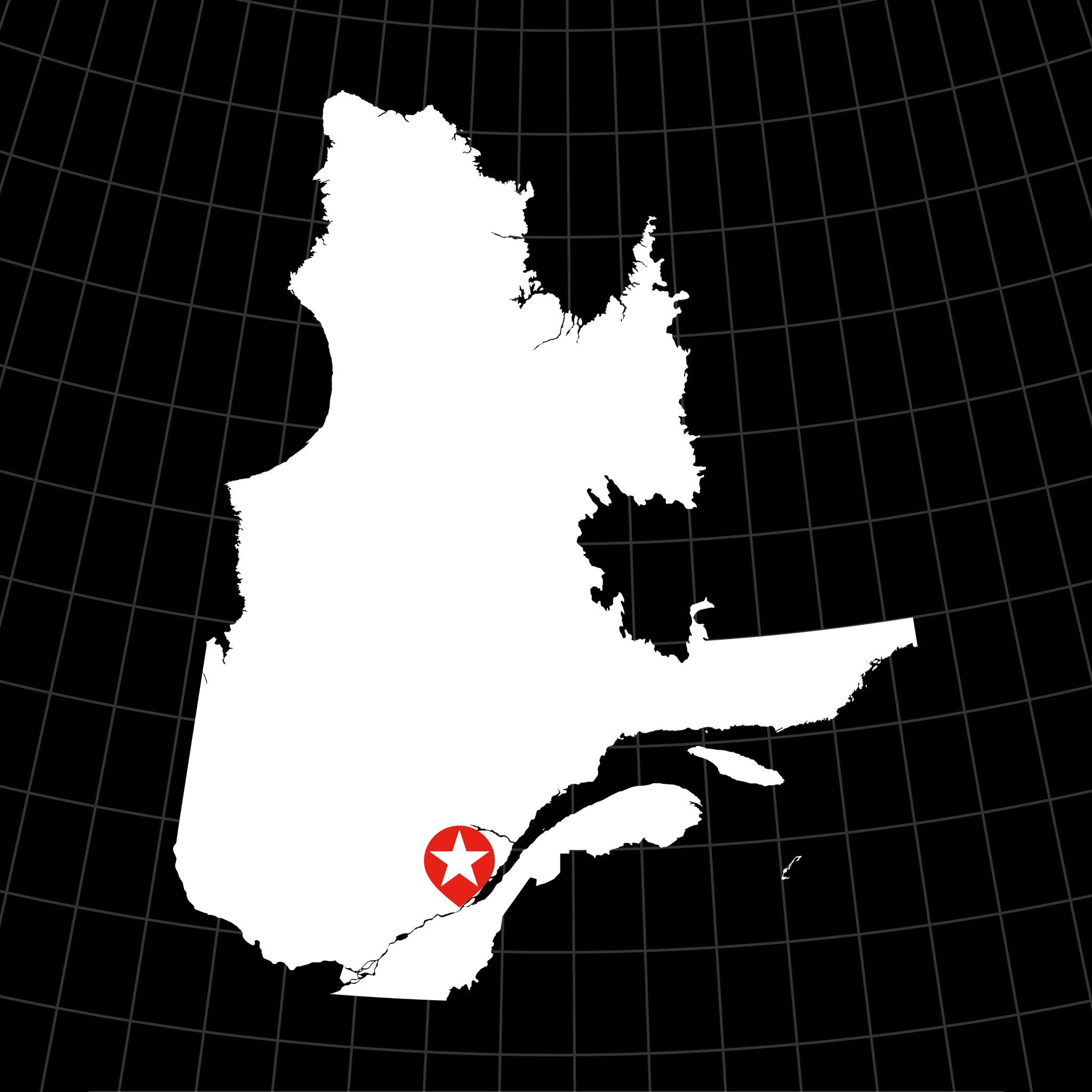 Digital Vector Map of Québec, Canada