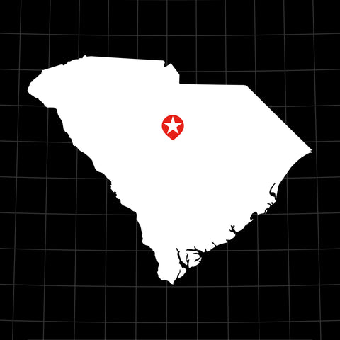 Digital Vector Map of South Carolina