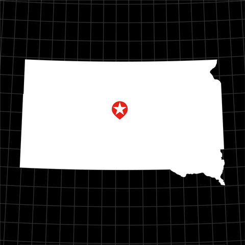 Digital Vector Map of South Dakota