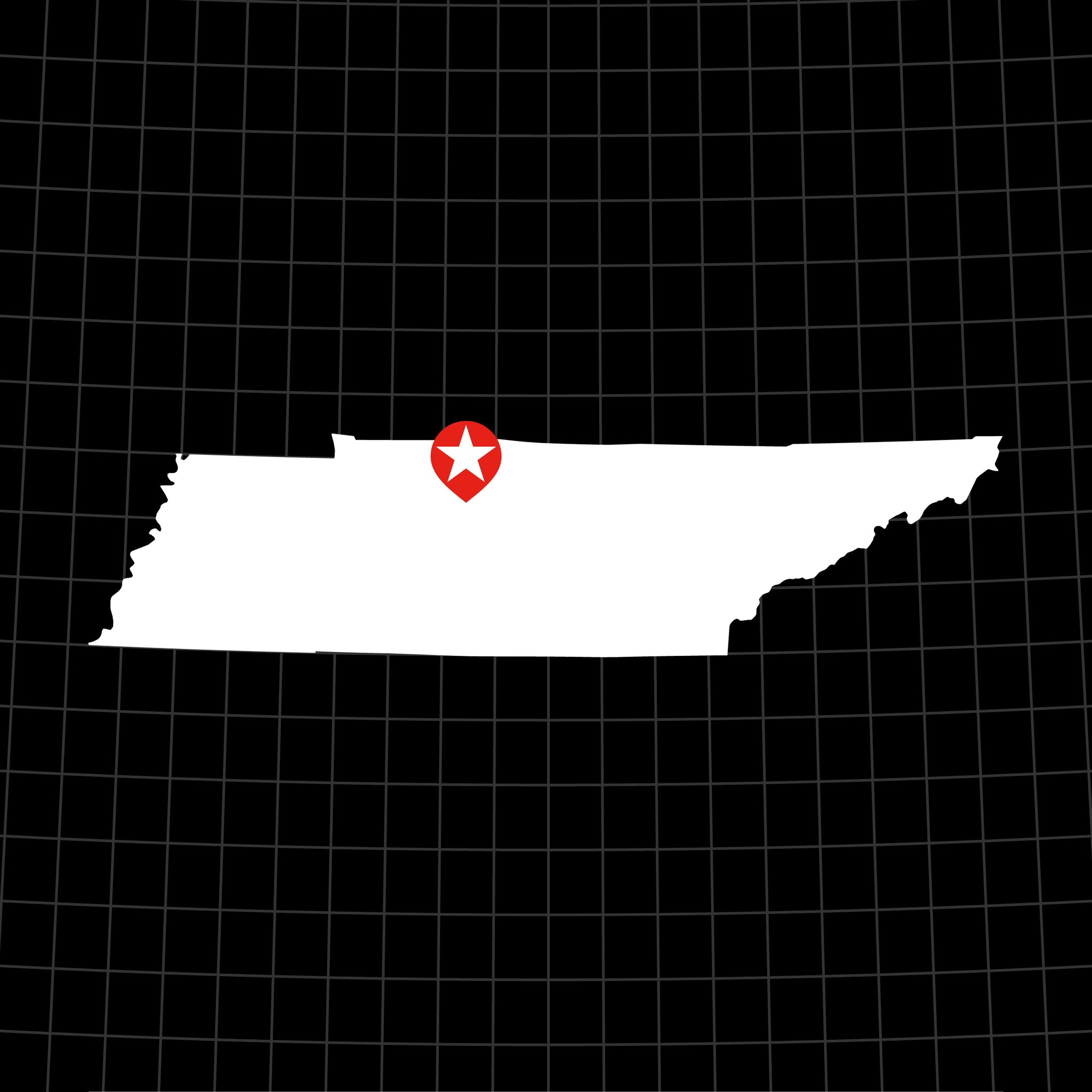 Digital Vector Map of Tennessee
