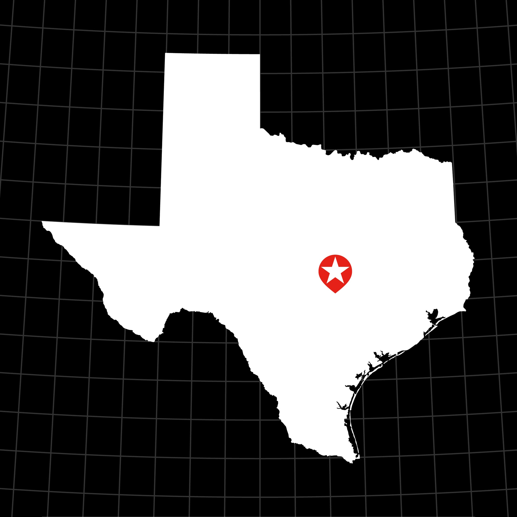 Digital Vector Map of Texas