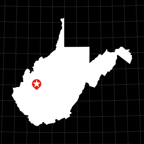 Digital Vector Map of West Virginia