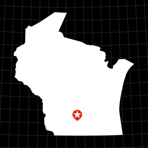 Digital Vector Map of Wisconsin