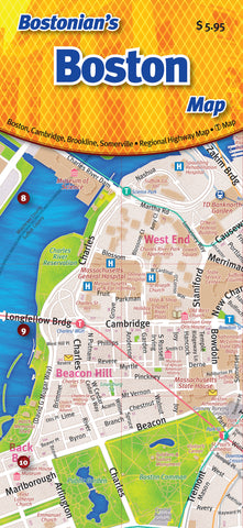 Cover image of Bostonian's Boston Map