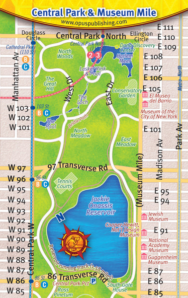 Cover image of Central Park and Museum Mile Map