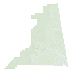 Royalty-free, digital vector street map of Cleburne County, Alabama.
