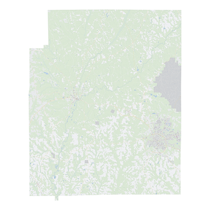 Royalty-free, digital vector street map of Coffee County, Alabama.