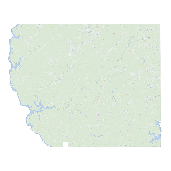 Royalty-free, digital vector street map of Coosa County, Alabama.