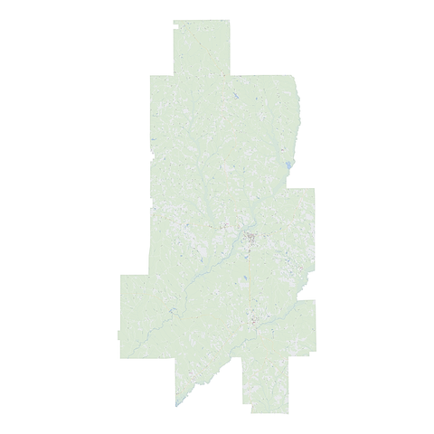 Royalty-free, digital vector street map of Crenshaw County, Alabama.