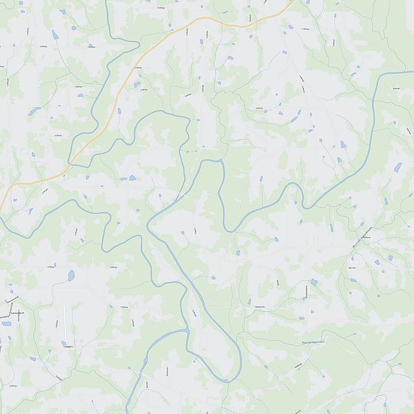 Royalty-free, digital vector street map of Cullman County, Alabama. Partial close-up of the map.