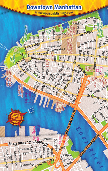 Cover image of Downtown Manhattan Credit Card Map