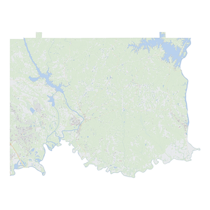 Royalty-free, digital vector street map of Elmore County, Alabama.