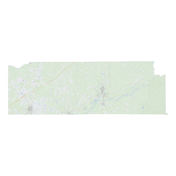 Royalty-free, digital vector street map of Escambia County, Alabama.