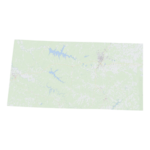 Royalty-free, digital vector street map of Franklin County, Alabama.