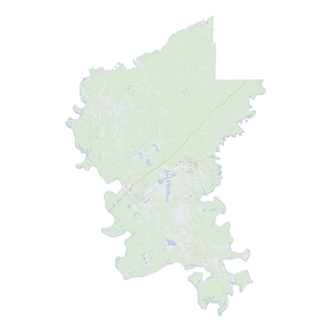 Royalty-free, digital vector street map of Greene County, Alabama.