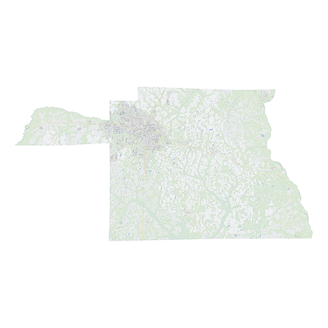 Royalty-free, digital vector street map of Houston County, Alabama.