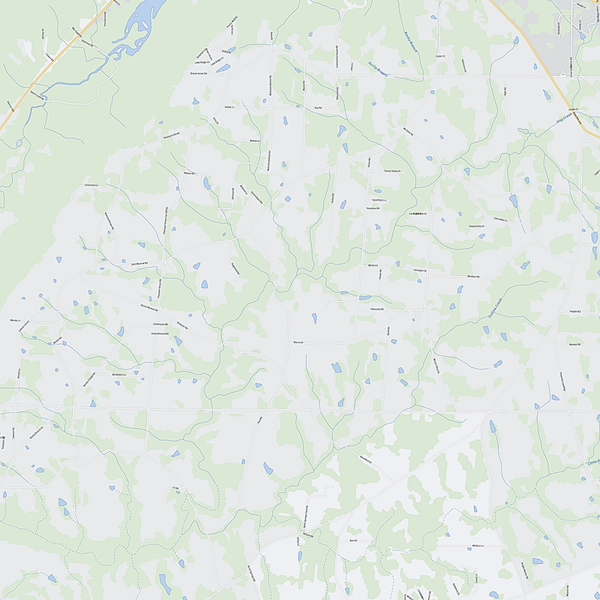 Royalty-free, digital vector street map of Marshall County, Alabama. Partial close-up of the map.