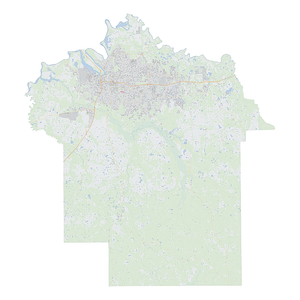 Royalty-free, digital vector street map of Montgomery County, Alabama.