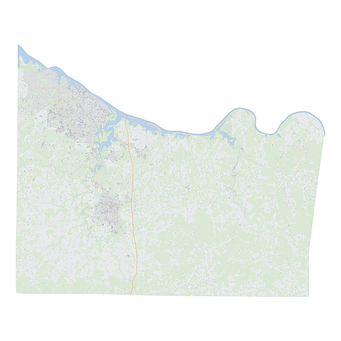 Royalty-free, digital vector street map of Morgan County, Alabama.