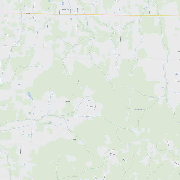 Royalty-free, digital vector street map of Morgan County, Alabama. Partial close-up of the map.