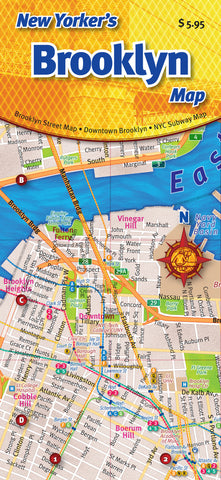 Cover image of the New Yorker's Brooklyn Map.