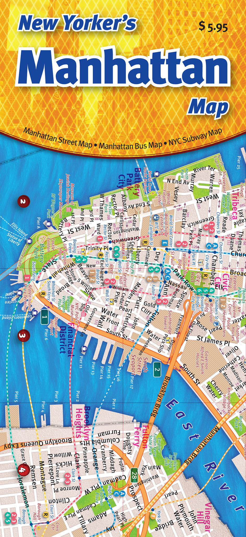 Cover image of the New Yorker's Manhattan Map.