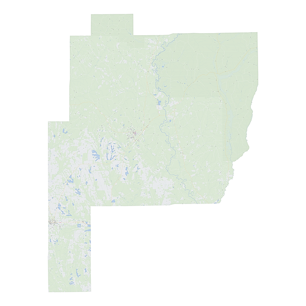 Royalty-free, digital vector street map of Perry County, Alabama.