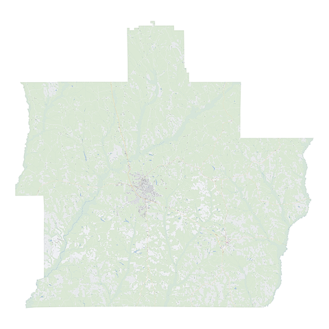 Royalty-free, digital vector street map of Pike County, Alabama.