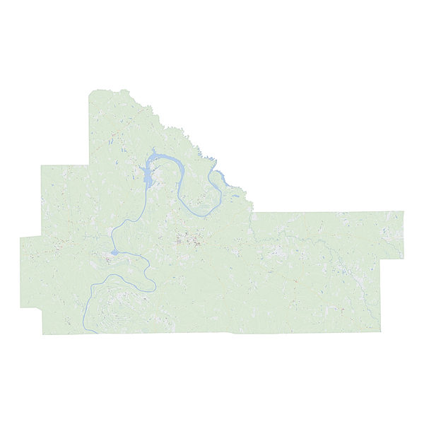 Royalty-free, digital vector street map of Wilcox County, Alabama.