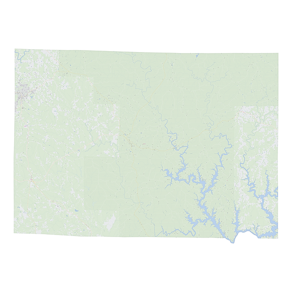 Royalty-free, digital vector street map of Winston County, Alabama.
