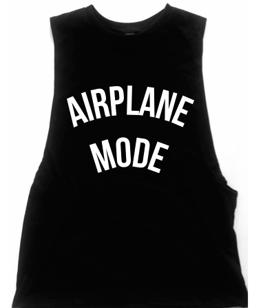 Airplane Mode Unisex Low Armhole Muscle Tank