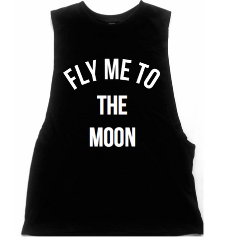 Fly Me To The Moon Unisex Low Armhole Muscle Tank
