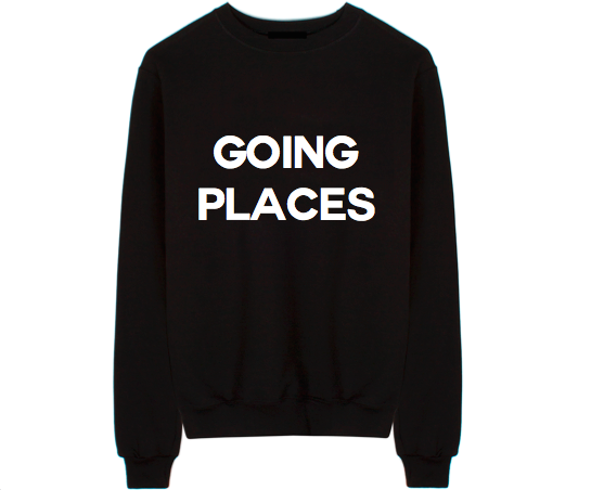 Going Places Unisex Crew Neck Sweatshirt