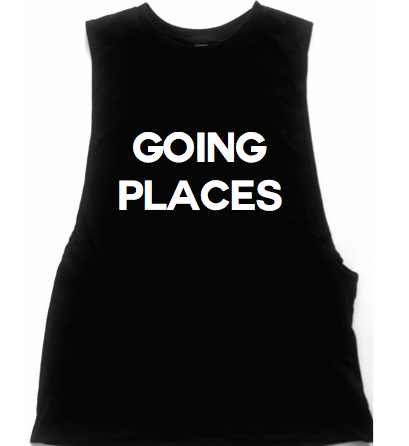 Going Places Unisex Low Armhole Muscle Tank