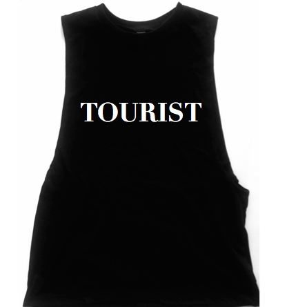 Tourist Unisex Low Armhole Muscle Tank