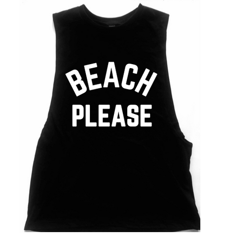 Beach Please Unisex Low Armhole Muscle Tank